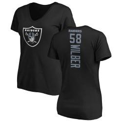 Women's Kyle Wilber Oakland Raiders Backer Slim Fit T-Shirt - Black