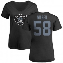 Women's Kyle Wilber Oakland Raiders Name & Number Logo Slim Fit T-Shirt - Black