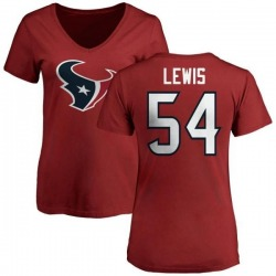 Women's LaTroy Lewis Houston Texans Name & Number Logo Slim Fit T-Shirt - Red