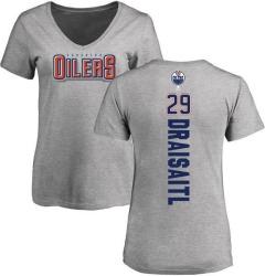 Women's Leon Draisaitl Edmonton Oilers Backer T-Shirt - Ash