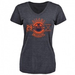 Women's Leon Draisaitl Edmonton Oilers Insignia Tri-Blend T-Shirt - Royal