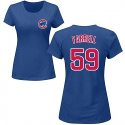 Women's Luke Farrell Chicago Cubs Roster Name & Number T-Shirt - Royal
