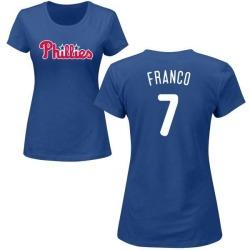 Women's Maikel Franco Philadelphia Phillies Roster Name & Number T-Shirt - Royal
