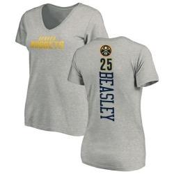 Women's Malik Beasley Denver Nuggets Ash Backer T-Shirt