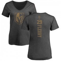 Women's Marc-Andre Fleury Vegas Golden Knights Charcoal One Color Backer T-Shirt