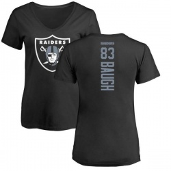 Women's Marcus Baugh Oakland Raiders Backer Slim Fit T-Shirt - Black