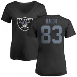 Women's Marcus Baugh Oakland Raiders Name & Number Logo Slim Fit T-Shirt - Black