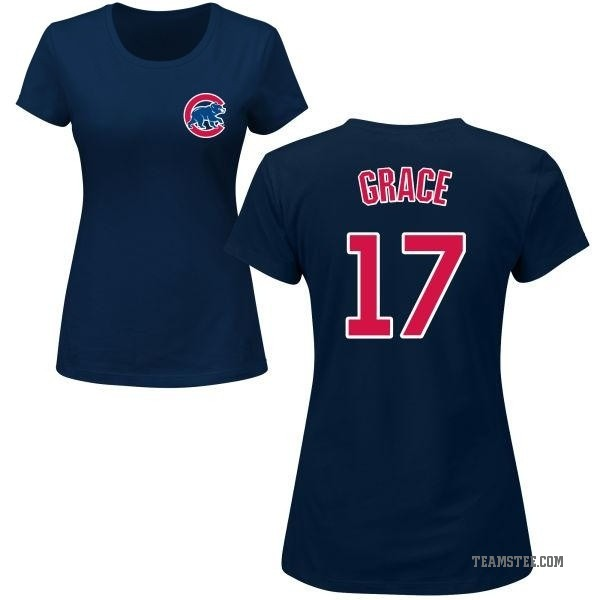 5a8cc4cb0 Women s Mark Grace Chicago Cubs Roster Name   Number T-Shirt - Navy ...