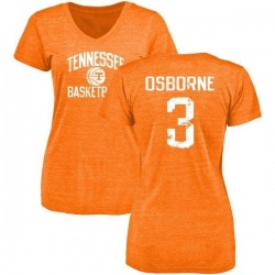 Women's Marquill Osborne Tennessee Volunteers Distressed Basketball Tri-Blend V-Neck T-Shirt - Tennessee Orange