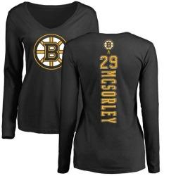 Women's Marty Mcsorley Boston Bruins Backer Long Sleeve T-Shirt - Black