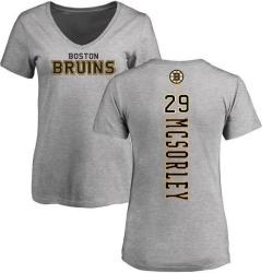 Women's Marty Mcsorley Boston Bruins Backer T-Shirt - Ash