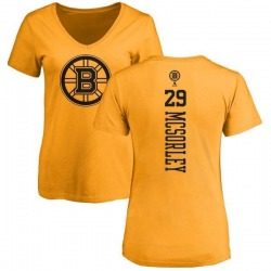 Women's Marty Mcsorley Boston Bruins One Color Backer T-Shirt - Gold