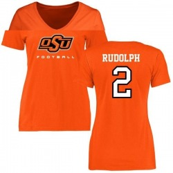 Women's Mason Rudolph Oklahoma State Cowboys Football T-Shirt - Orange