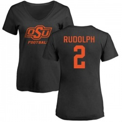 Women's Mason Rudolph Oklahoma State Cowboys One Color T-Shirt - Black