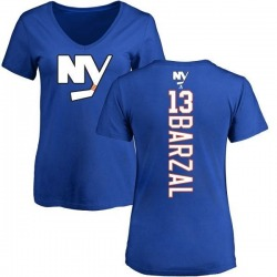 Women's Mathew Barzal New York Islanders Backer T-Shirt - Royal