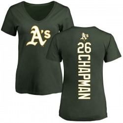 Women's Matt Chapman Oakland Athletics Backer Slim Fit T-Shirt - Green