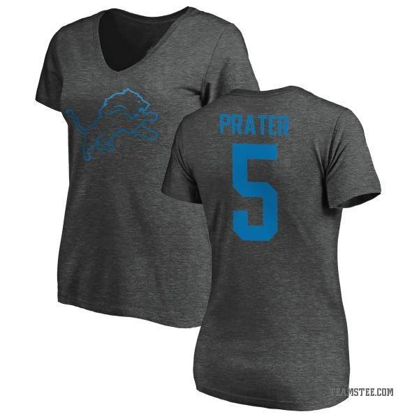 newest 94a9d e720b Women's Matt Prater Detroit Lions One Color T-Shirt - Ash - Teams Tee