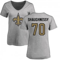 Women's Matt Shaughnessy New Orleans Saints Name & Number Logo Slim Fit T-Shirt - Ash