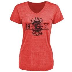 Women's Matthew Tkachuk Calgary Flames Insignia Tri-Blend T-Shirt - Red