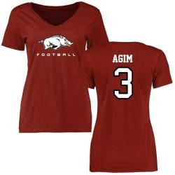 Women's McTelvin Agim Arkansas Razorbacks Football Slim Fit T-Shirt - Cardinal