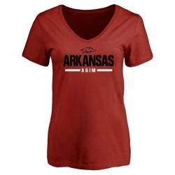 Women's McTelvin Agim Arkansas Razorbacks Sport V-Neck T-Shirt - Cardinal