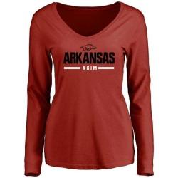 Women's McTelvin Agim Arkansas Razorbacks Sport Wordmark Long Sleeve T-Shirt - Cardinal