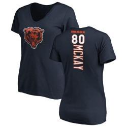 Women's Mekale McKay Chicago Bears Backer Slim Fit T-Shirt - Navy