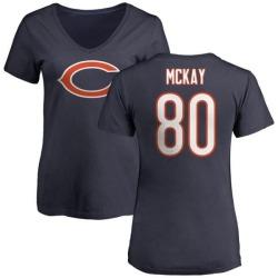 Women's Mekale McKay Chicago Bears Name & Number Logo Slim Fit T-Shirt - Navy
