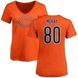 Women's Mekale McKay Chicago Bears Name & Number Logo Slim Fit T-Shirt - Orange