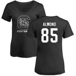 Women's Michael Almond South Carolina Gamecocks One Color T-Shirt - Black