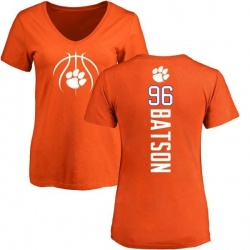 Women's Michael Batson Clemson Tigers Basketball Backer T-Shirt - Orange