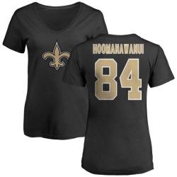 Women's Michael Hoomanawanui New Orleans Saints Name & Number Logo Slim Fit T-Shirt - Black