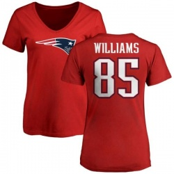 Women's Michael Williams New England Patriots Name & Number Logo Slim Fit T-Shirt - Red
