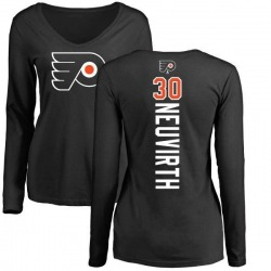 Women's Michal Neuvirth Philadelphia Flyers Backer Long Sleeve T-Shirt - Black