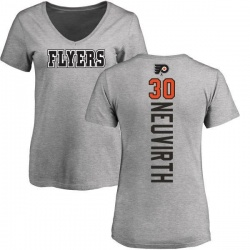 Women's Michal Neuvirth Philadelphia Flyers Backer T-Shirt - Ash