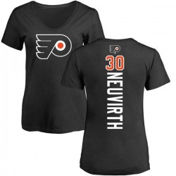 Women's Michal Neuvirth Philadelphia Flyers Backer T-Shirt - Black