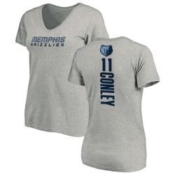 Women's Mike Conley Memphis Grizzlies Ash Backer T-Shirt