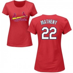 Women's Mike Matheny St. Louis Cardinals Roster Name & Number T-Shirt - Red
