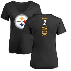 Women's Mike Vick Pittsburgh Steelers Backer Slim Fit T-Shirt - Black