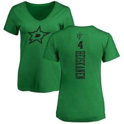 Women's Miro Heiskanen Dallas Stars One Color Backer T-Shirt - Kelly Green