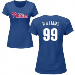 Women's Mitch Williams Philadelphia Phillies Roster Name & Number T-Shirt - Royal