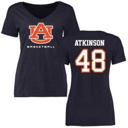Women's Montavious Atkinson Auburn Tigers Basketball Slim Fit T-Shirt - Navy