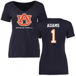 Women's Montravius Adams Auburn Tigers Basketball Slim Fit T-Shirt - Navy