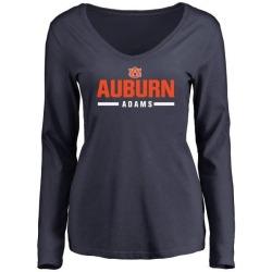 Women's Montravius Adams Auburn Tigers Sport Wordmark Long Sleeve T-Shirt - Navy
