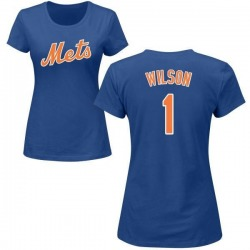 Women's Mookie Wilson New York Mets Roster Name & Number T-Shirt - Royal