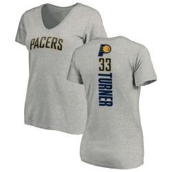 Women's Myles Turner Indiana Pacers Ash Backer T-Shirt