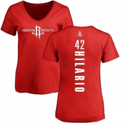 Women's Nene Hilario Houston Rockets Red Backer T-Shirt
