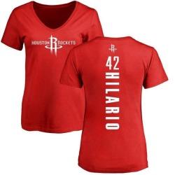 Women's Nene Hilario Houston Rockets Red Backer T-Shirt