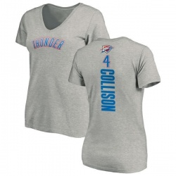 Women's Nick Collison Oklahoma City Thunder Ash Backer T-Shirt