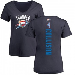 Women's Nick Collison Oklahoma City Thunder Navy Backer T-Shirt
